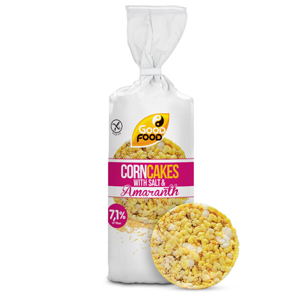 Thin corn cakes with super seeds